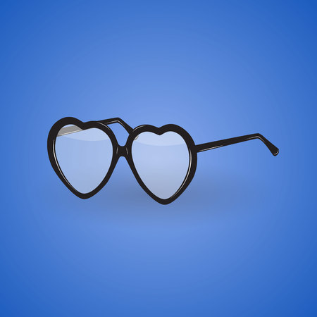diopter: Illustration of glasses. Illustration