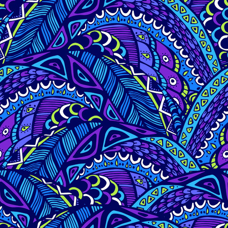 lop: Seamless abstract pattern in doodle style. Illustration