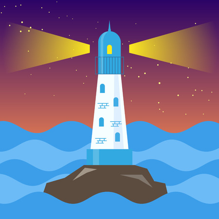 lop: Lighthouse in a sea