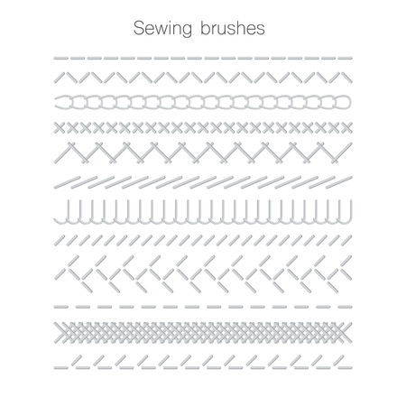 seams: Set of swing seams illustration