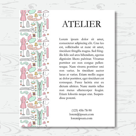 sew: Template for atelier card illustration