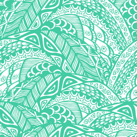vintage riffle: Seamless abstract pattern in doodle style. Illustration