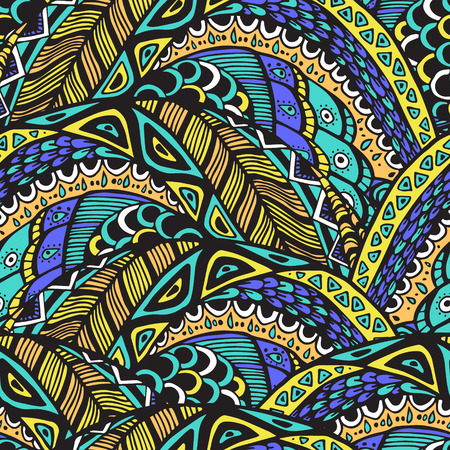 abstract doodle: Seamless abstract pattern in doodle style. Illustration