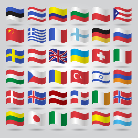 world flags: World flags collection illustration. Illustration