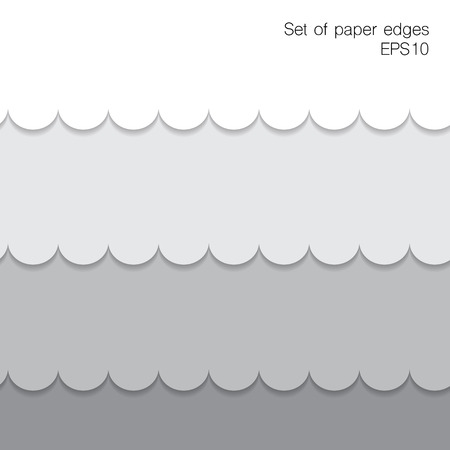 camber: Paper figure edges.