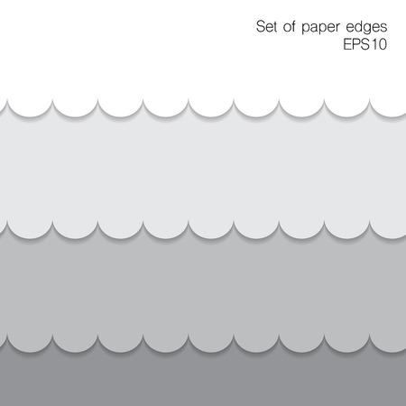 vintage riffle: Paper figure edges.