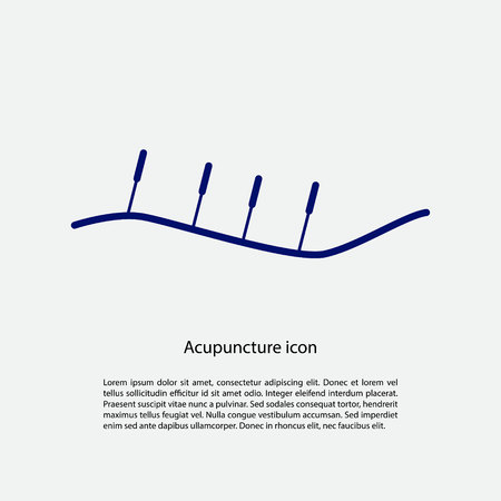 traditional chinese medicine: Acupuncture icon with place for text. Vector illustration