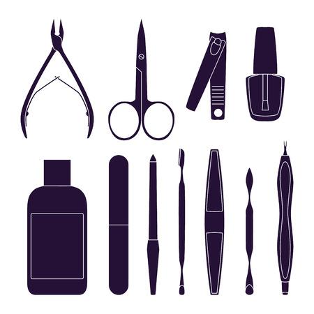 Set of tools for manicure. Vector illustration Illustration
