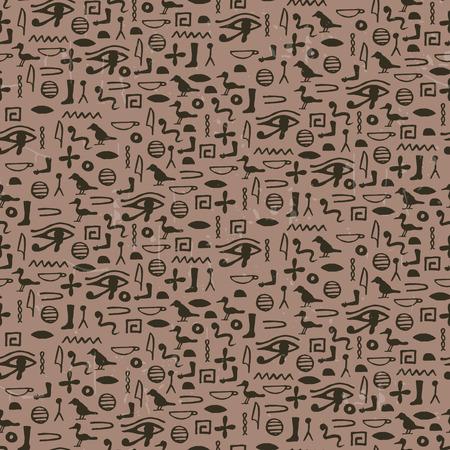 cuneiform: Seamless pattern with egypt hieroglyphs. vector illustration