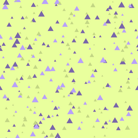 rhythmical: Seamless abstract geometry pattern with triangles in simple colors. Vector illustration Illustration