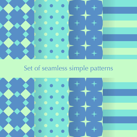 rhythmical: Seamless ancstract geometry pattern with stars, squares, dots anf stripes. Vector illustration