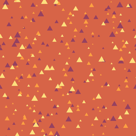 unpretentious: Seamless abstract geometry pattern with triangles in simple colors. Vector illustration Illustration