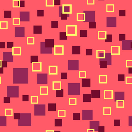 rhythmical: Seamless abstract geometry pattern with squares in simple colors. Vector illustration Illustration