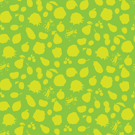 sapid: Seamless pattern with different vegetables, fruits and berries. Vector illustration