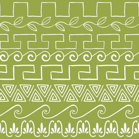 Seamless pattern with ancient greek ornaments vector illustration