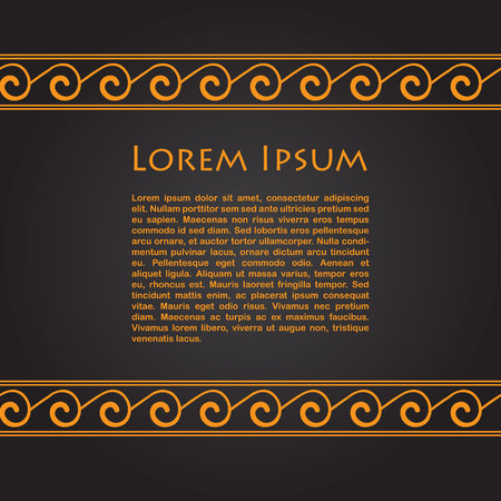 Card with greek ornaments and place for text. Vector illustration Vector Illustration