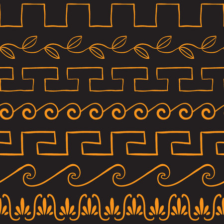 greek: Seamless pattern with ancient greek ornaments vector illustration