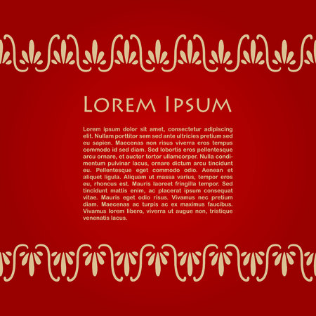 greek: Card with greek ornaments and place for text. Vector illustration