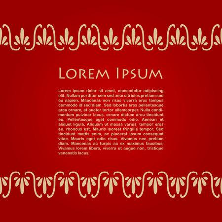 arte greca: Scheda con ornamenti greca e posto per testo. illustrazione di vettore