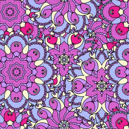 uniformity: Ethnic arabic, indian ornament. Hand drawn seamless pattern. Vector illustration.