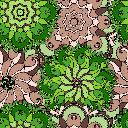 dissimilarity: Ethnic arabic, indian ornament. Hand drawn seamless pattern. Vector illustration.