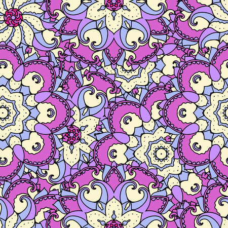 uniformity: Ethnic arabic, indian ornament. Hand drawn seamless pattern. Vector illustration.