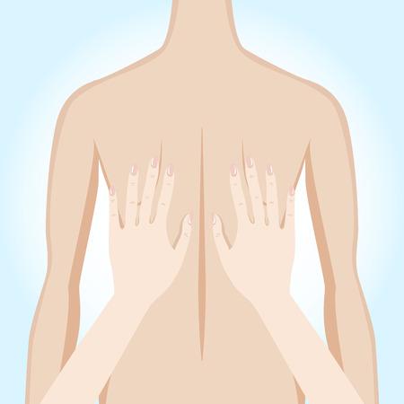 revitalize: Illustration of a massage. Manual therapy. Alternative medicine