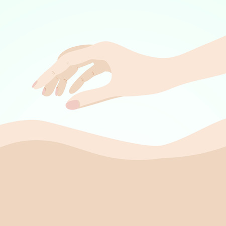 luxery: Illustration of a massage. Manual therapy. Alternative medicine
