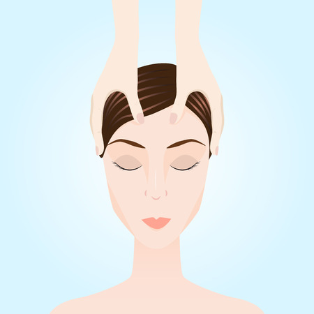Illustration d'un massage. Thérapie manuelle. Médecine douce Banque d'images - 54825351