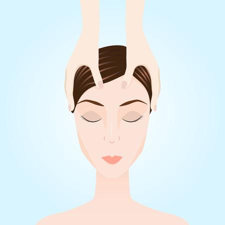 Illustration of a massage. Manual therapy. Alternative medicine
