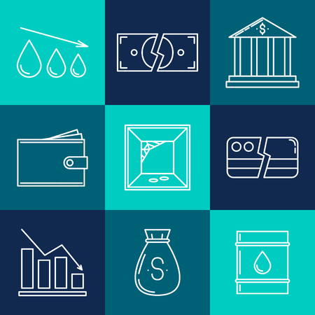 monopoly: Set of economy crysis icons. Vector illustration
