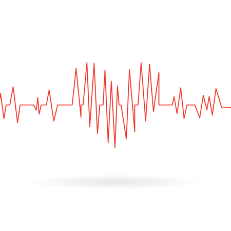 cardiogram: Medical icon of cardiogram. Vector illustration Illustration