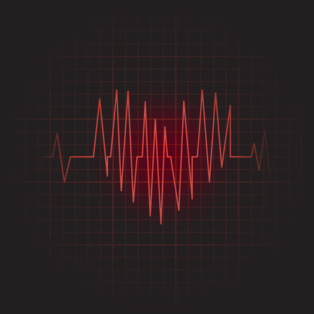 oscillate: Medical icon of cardiogram. Vector illustration Illustration
