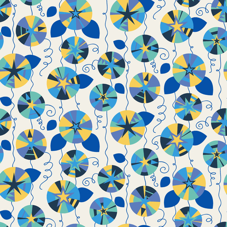 convolvulus: Seamless pattern with beautiful gentle bindweeds. It can be used for greeting cards, birthday cards, wedding inwitations, wallpapers, textile, etc. Vector illustration Illustration