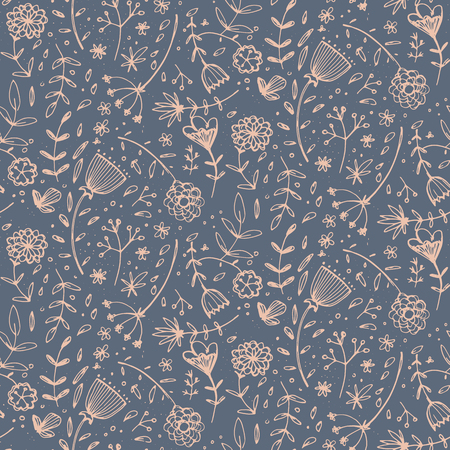 Seamless pattern with beautiful flowers. Vector illustration