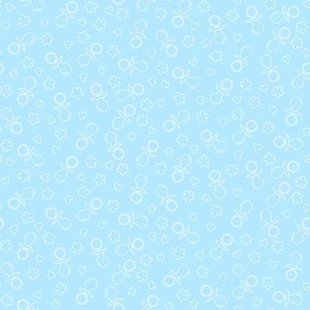 pezones: sin patrón, con los pezones, corazones y flores. ilustración vectorial