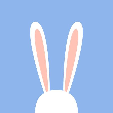 Cute ears of white rabbit. Vector illustration