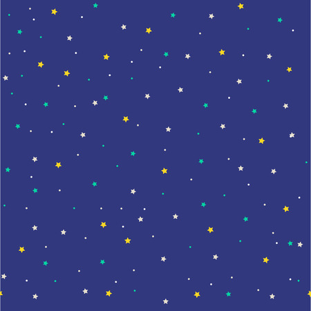 Seamless pattern with stars. Vector illustration