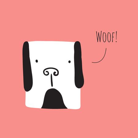 Cute dog barking. Vector illustration
