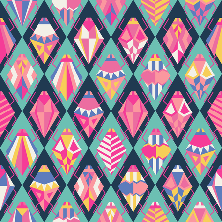 Seamless pattern with different bugs. vector illustration