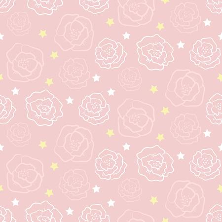 Seamless pattern with roses. Vector illustration Ilustracja