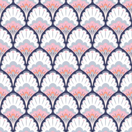 Seamless pattern with flowers. Vector illustration
