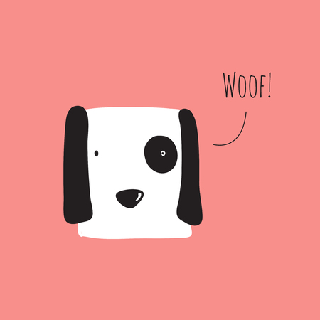 Cute dog barking. Vector illustration