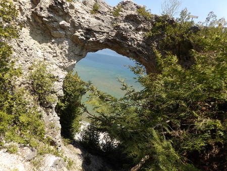 mackinac: Rock Formations Stock Photo