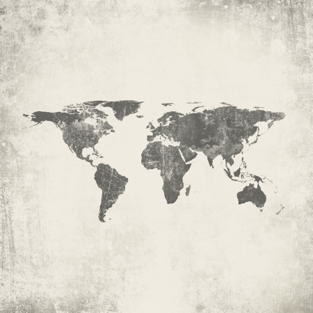 vintage world map: Grunge background