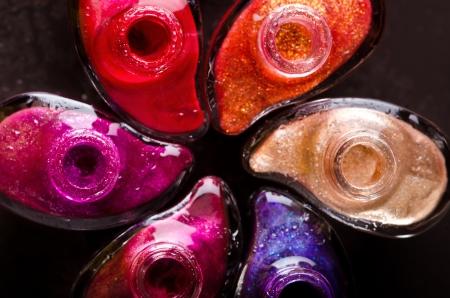 Nail polish on black background Stock Photo - 17538000