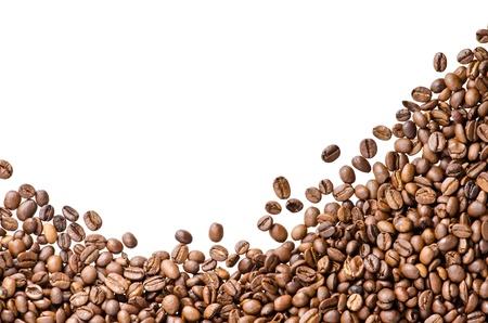 Kaffeebohnen auf weißem Hintergrund Standard-Bild - 17658844