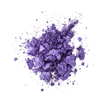 Purple eyeshadow on white background