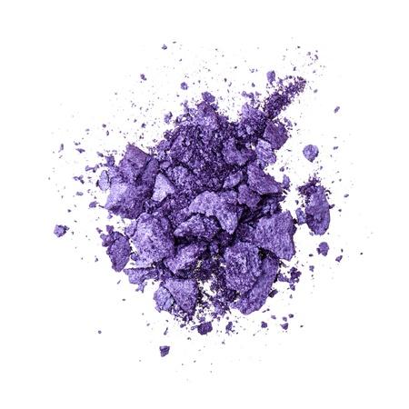 Purple eyeshadow on white background