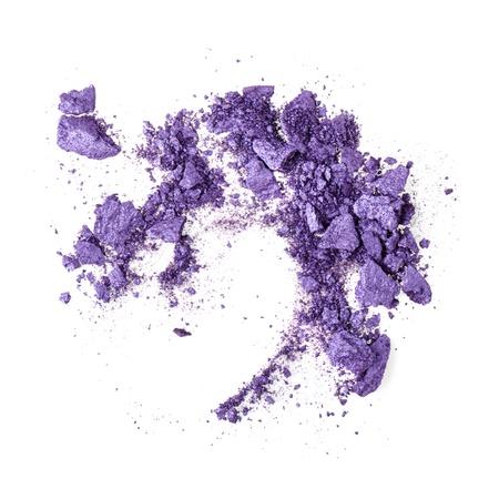 Crushed purple eyeshadow on white
